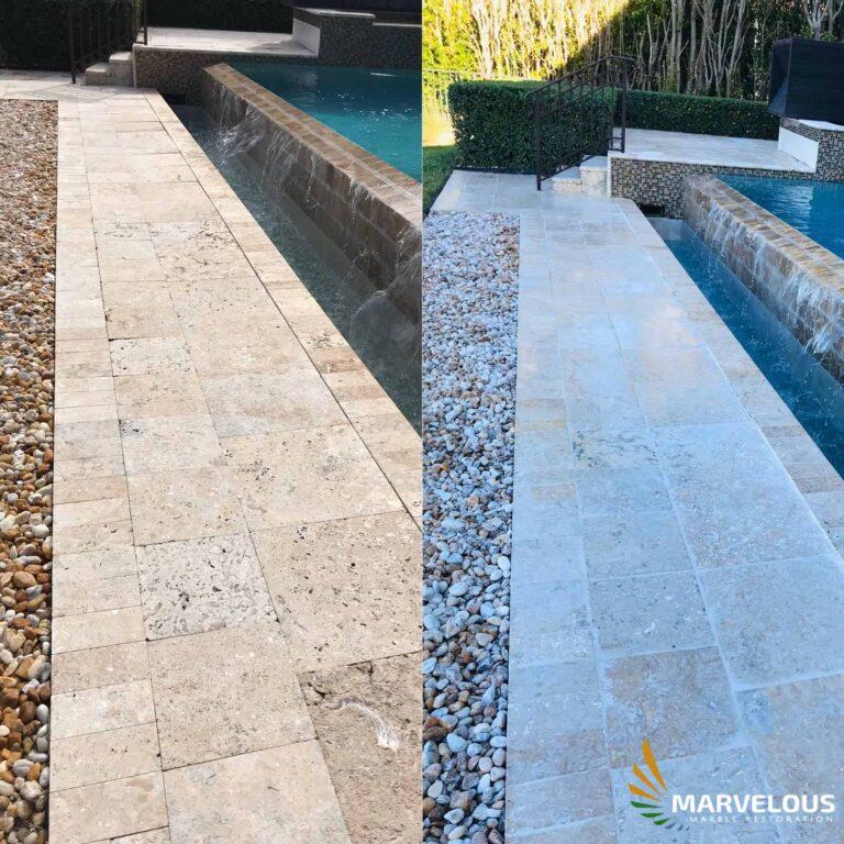 Marble Natural Stone Paver Repair in West Palm Beach, Wallington, Boca Raton, Boynton Beach