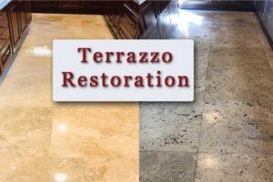 Terrazzo Restoration, Repair, Polishing service in boca raton